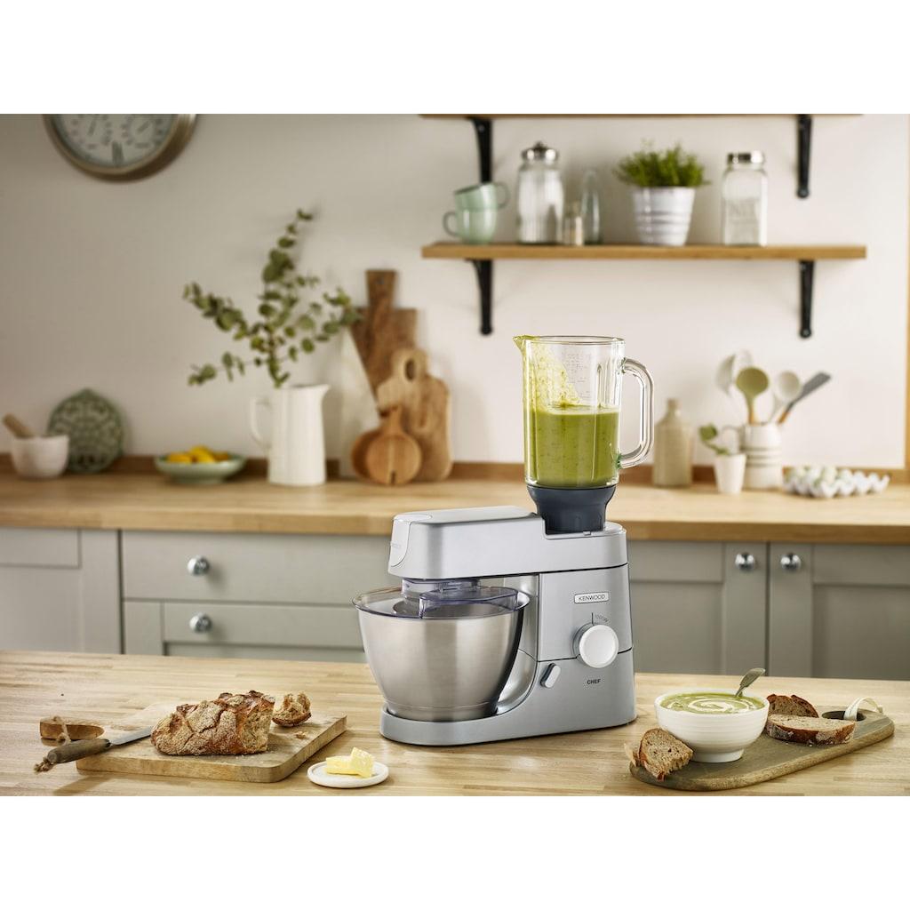 KENWOOD Küchenmaschine »Chef KVC3150S«, 1000 W, 4,6 l Schüssel, Mit viel Zubehör im Gesamtwert von UVP € 219,98