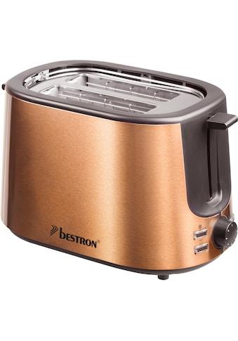bestron Toaster »ATS1000CO«, 2 kurze Schlitze, für 2 Scheiben, 1000 W, Krümelschublade... kaufen