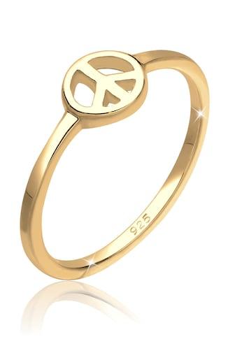 Elli Fingerring »Peace Frieden Symbol 925 Sterling Silber« kaufen