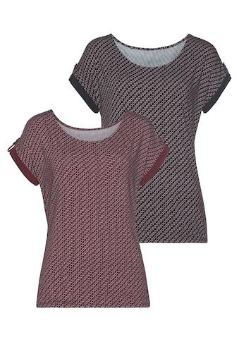 Vivance T-Shirt, mit kleinem Beleg und goldfarbenen Knopf am Ärmelsaum kaufen