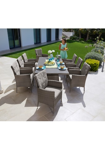 KONIFERA Gartenmöbelset »Mailand«, 25 - tlg., 8 Sessel, Tisch 200x100 cm, Polyrattan kaufen