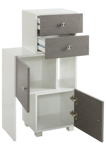 Schildmeyer Schieberegal »Bozen«, Breite 38-68 cm Breite, Türen mit... kaufen