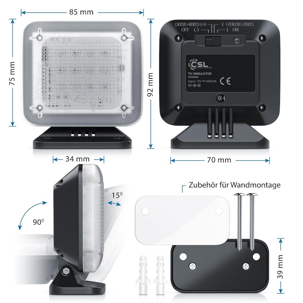 CSL LED Einbruchschutz TV-Simulator mit Dämmerungssensor