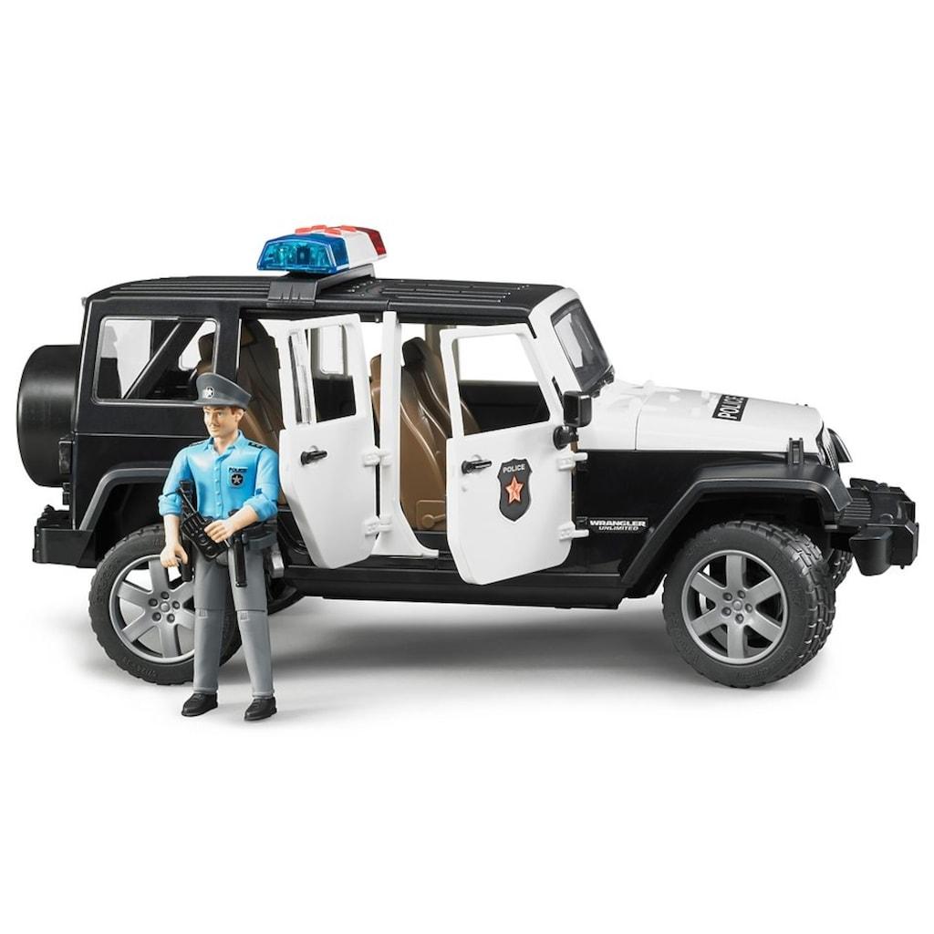 Bruder® Spielzeug-Polizei »Jeep Wrangler Polizeifahrzeug und Polizist«, mit Sound, Made in Germany