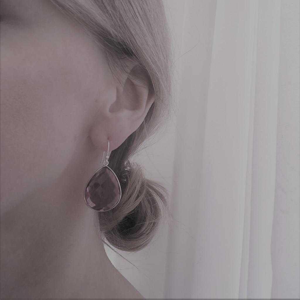AILORIA Paar Ohrhänger »ROSE Ohrringe«, mit Rubinquarz