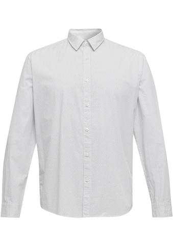 Esprit Langarmhemd, mit Allover-Muster kaufen