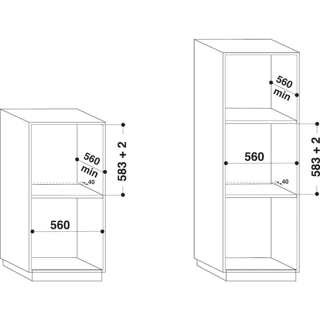BAUKNECHT Backofen-Set »BAKO ATTRACTION«, BAR2 KH8V2 IN, mit 2-fach-Teleskopauszug