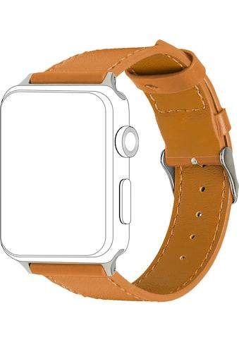 topp Accessoires Ersatz - /Wechselarmband »Leder mit Ziernaht für Apple Watch (38/40 mm)« kaufen