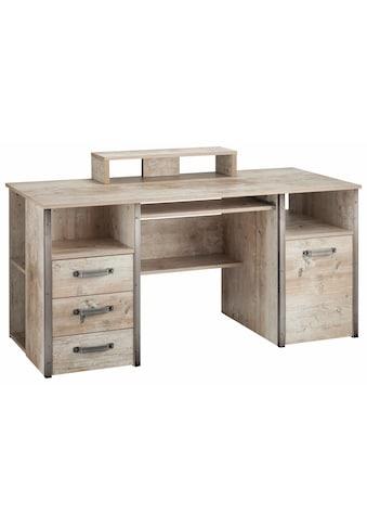 Schildmeyer Schreibtisch »Harkon«, mit Griffen und Winkeln in Stahl-Design kaufen