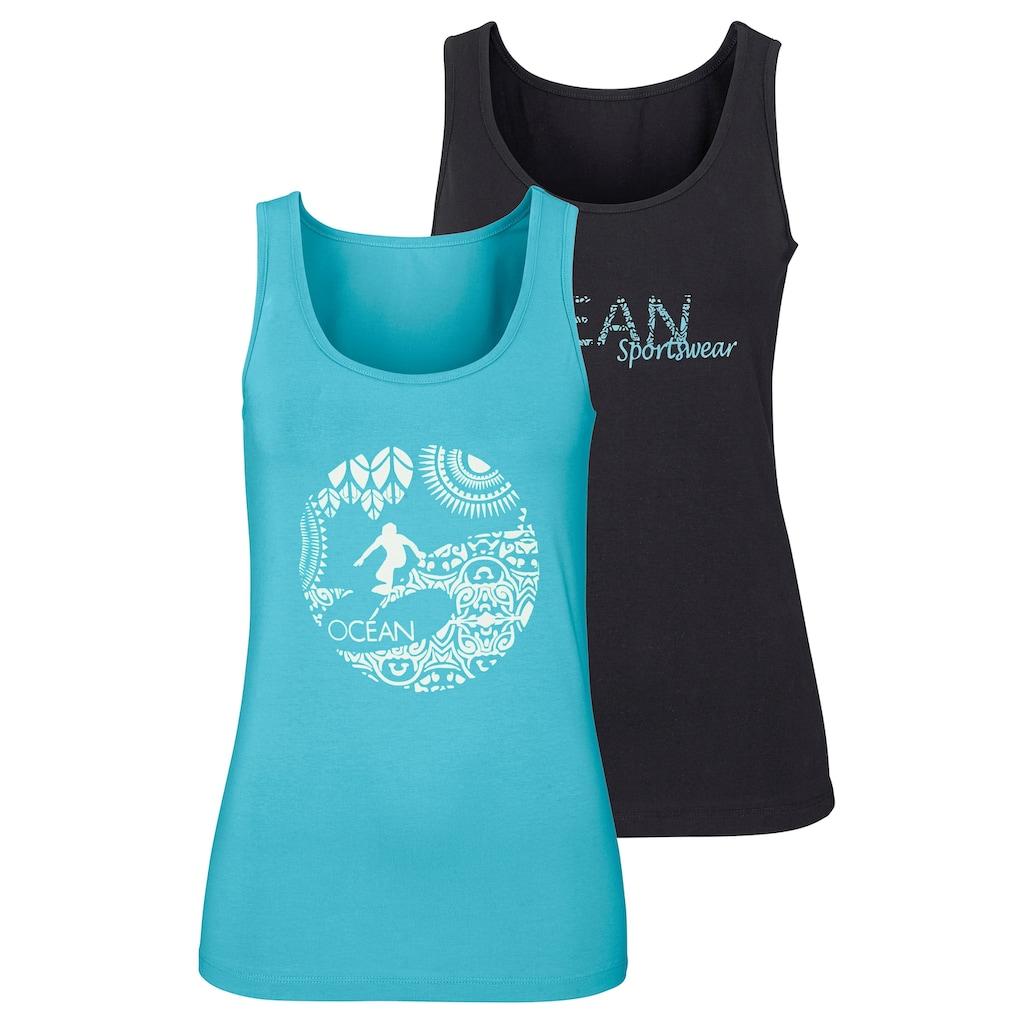Ocean Sportswear Tanktop, (Packung, 2er-Pack), mit unterschiedlichen Drucken
