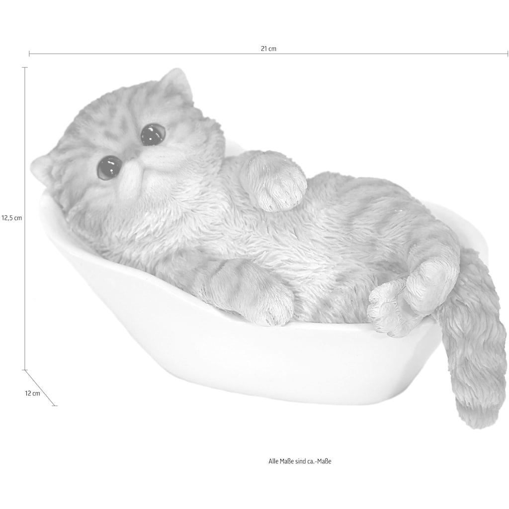 Casa Collection by Jänig Tierfigur »Perserkatze in der Badewanne«