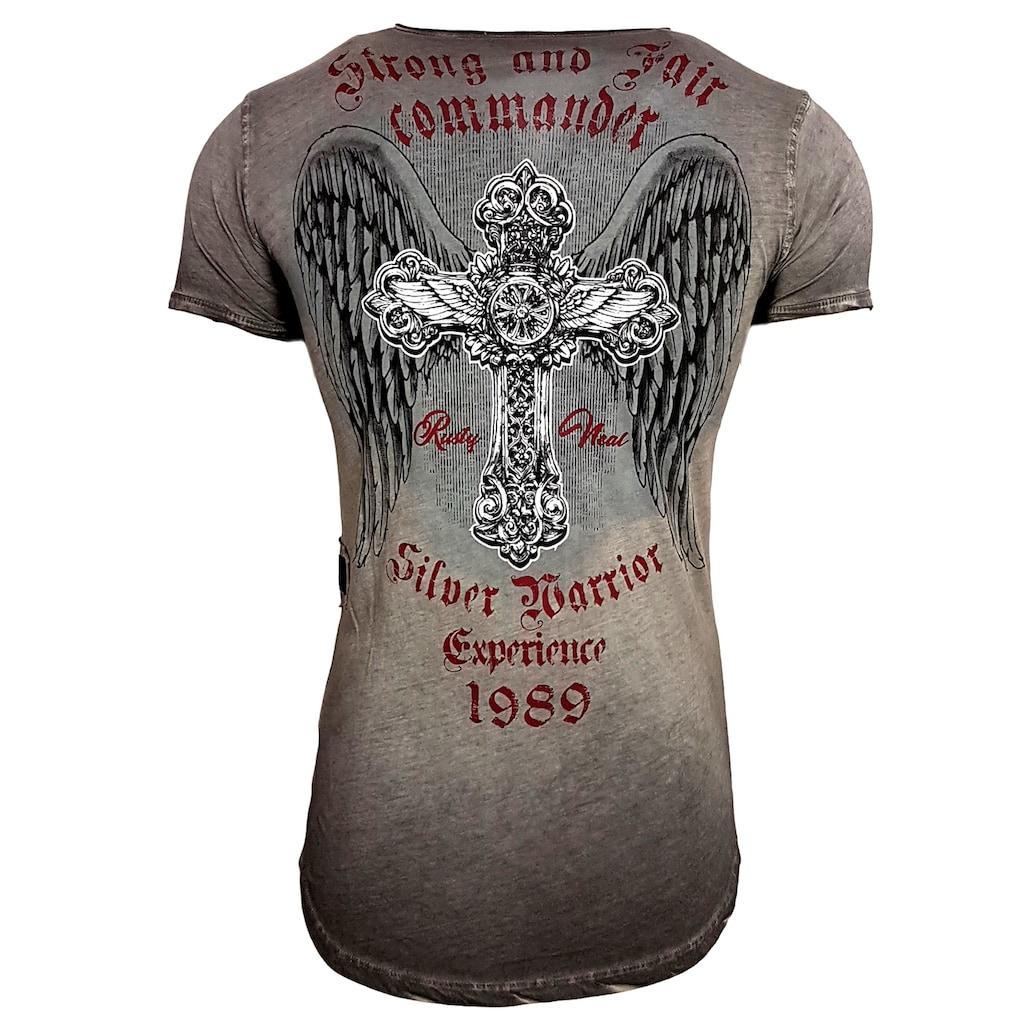 Rusty Neal T-Shirt im körpernahen Schnitt