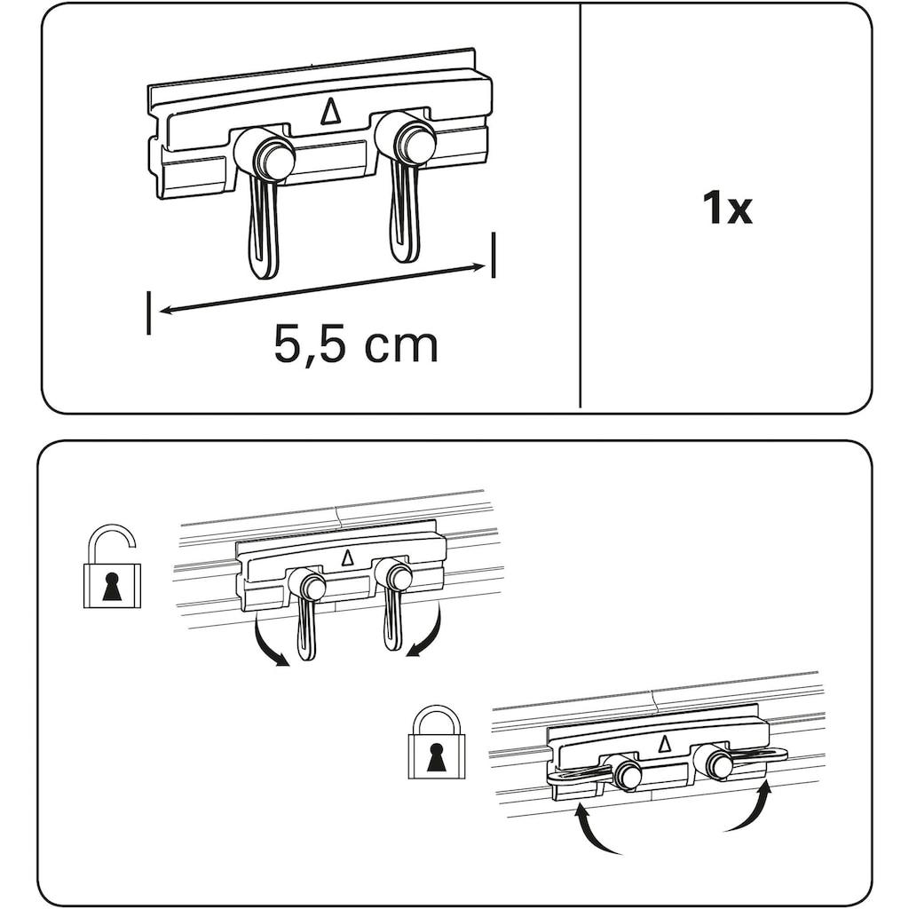 GARDINIA Gardinenstangenhalter »Vorhangschiene-Verbinder«, Serie Vorhangschiene Perfectline