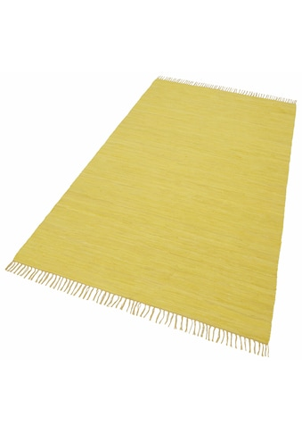 THEKO Teppich »Happy Cotton«, rechteckig, 5 mm Höhe, Flachgewebe, reine Baumwolle,... kaufen