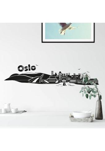 Wall-Art Wandtattoo »XXL Stadt Skyline Oslo 100cm« kaufen