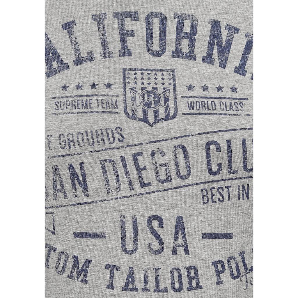 TOM TAILOR Polo Team T-Shirt, mit markantem Print