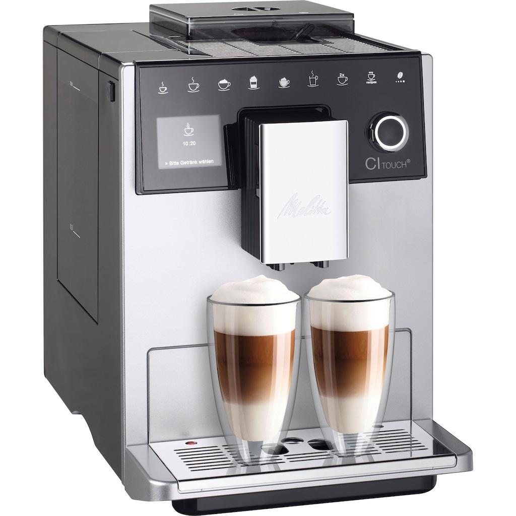 Melitta Kaffeevollautomat »CI Touch® F630-101«, silberfarben/schwarz