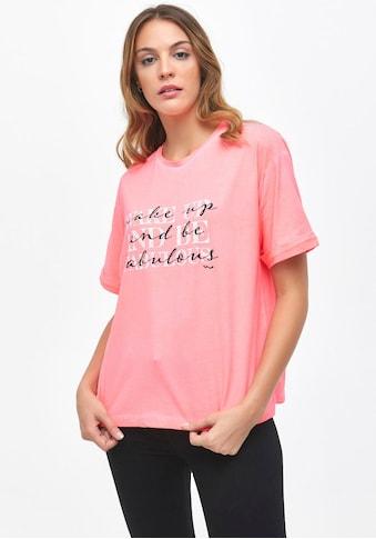 LTB Rundhalsshirt »TAWODI«, mit coolem doppeltem Wording auf Brusthöhe kaufen