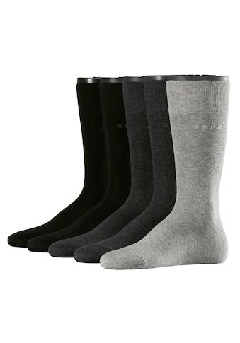 Esprit Socken »Solid-Mix 5-Pack«, (5 Paar), mit hohem Baumwollanteil kaufen