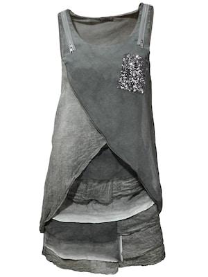 Shirtkleid in Grau