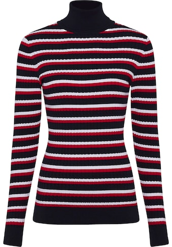 TOMMY HILFIGER Rollkragenpullover »TH ESS CABLE ROLL - NK SWEATER LS« kaufen
