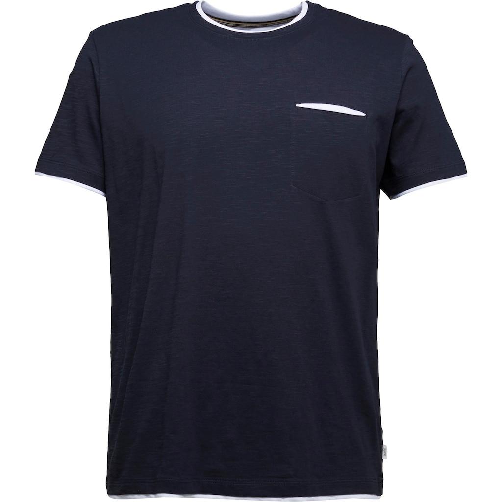 Esprit T-Shirt, in Slub-Yarn-Optik
