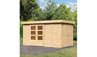 WOODFEELING Gartenhaus »Retola 5«, BxT: 404x238 cm, mit Anbauschrank kaufen