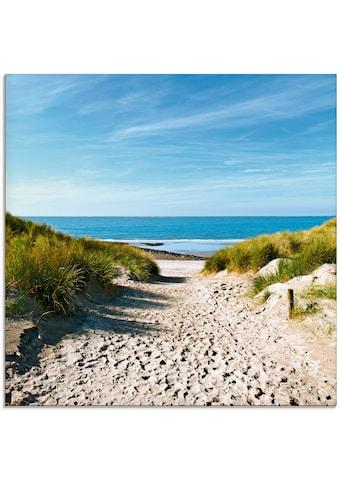 Artland Glasbild »Strand mit Sanddünen und Weg zur See«, Strand, (1 St.) kaufen