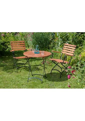 MERXX Gartenmöbelset »Schloßgarten«, 3tlg., 2 Sessel, Tisch, klappbar, Eukalyptusholz kaufen