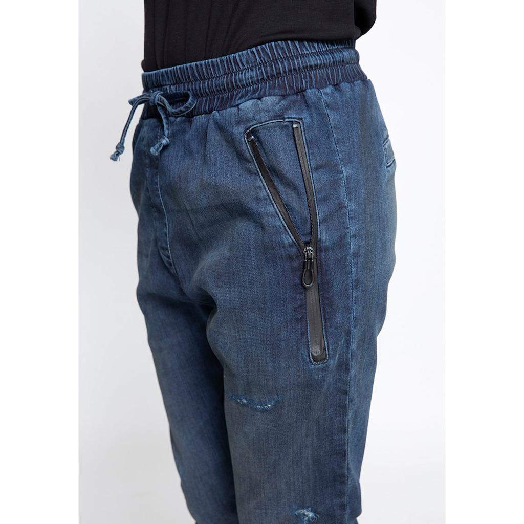 Zhrill Jogger Pants »FABIA DENIM«, Jeans Jogginghose mit Gummibündchen & Zipper
