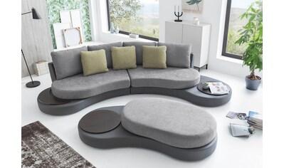 COTTA Big-Sofa »Beach«, in ausgefallener Optik, inklusive 2 Ablageflächen kaufen