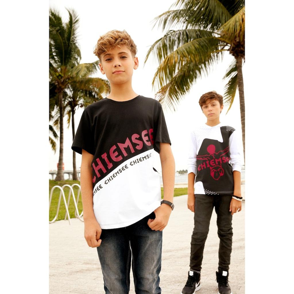 Chiemsee T-Shirt, mit farbigen Drucken