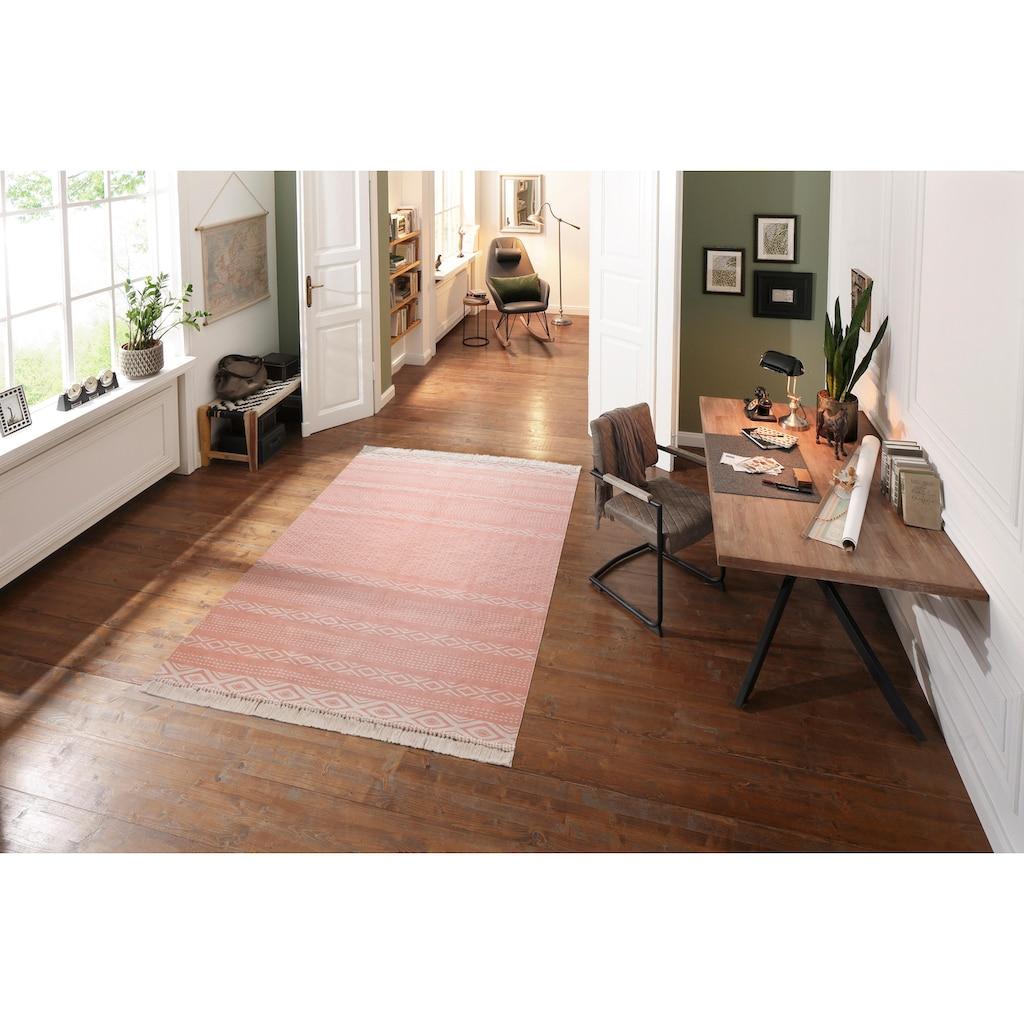 andas Teppich »Neo«, rechteckig, 3 mm Höhe, Pastell-Farben, Wohnzimmer