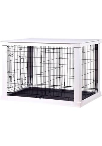 dobar Hundekäfig »Gitterbox Gr. L«, BxLxH: 73x110x76 cm, weiß kaufen