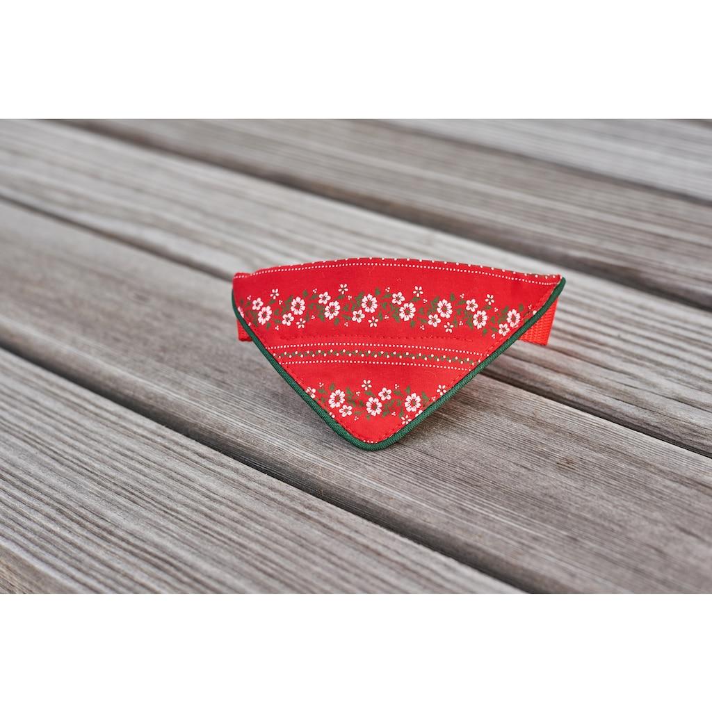 Hannah Tier-Halsband, Textil, mit farbiger Passpoil - Made in Austria