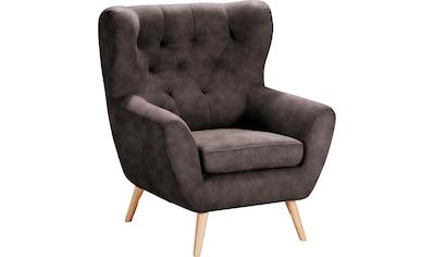 Home affaire Sessel »VOSS«, mit moderner Knopfheftung kaufen