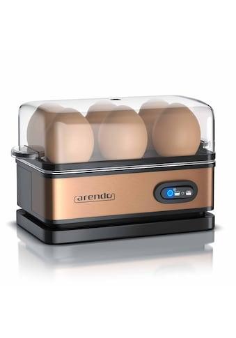 Arendo Eierkocher mit Warmhaltefunktion für 6 Eier »SIXCOOK in Kupfer« kaufen