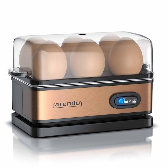 Arendo Eierkocher mit Warmhaltefunktion für 6 Eier »SIXCOOK in Kupfer«