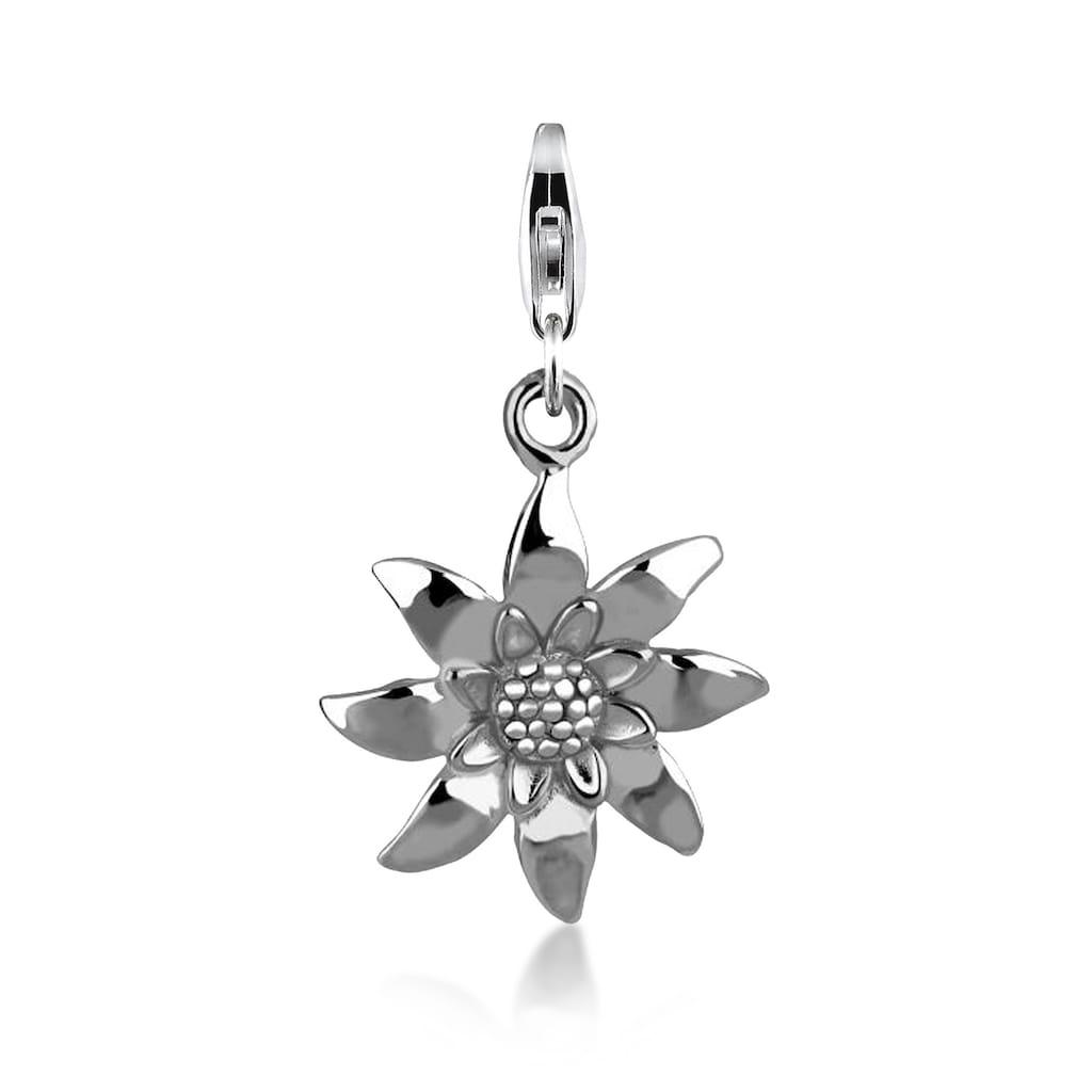 Nenalina Charm-Einhänger »Edelweiss Blume Wiesn Anhänger 925 Silber«