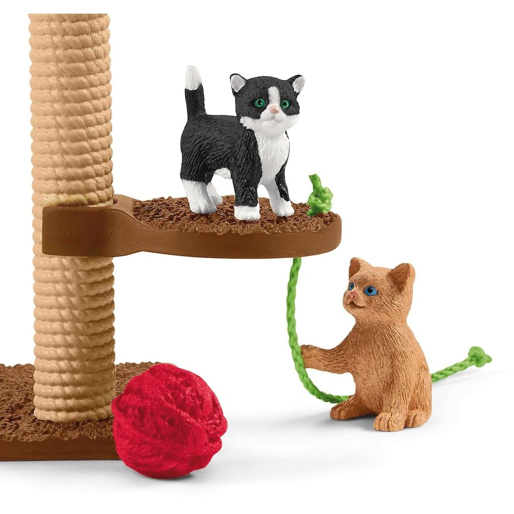 Schleich® Spielfigur »Farm World, Spielspaß für niedliche Katzen (42501)«, (Set)