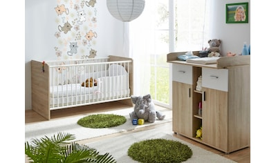 Ticaa Babymöbel-Set »Nico«, (Set, 2 St.), Bett + Wickelkommode kaufen
