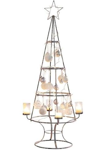 Teelichthalter »Weihnachtsbaum«, Metall/Glas kaufen