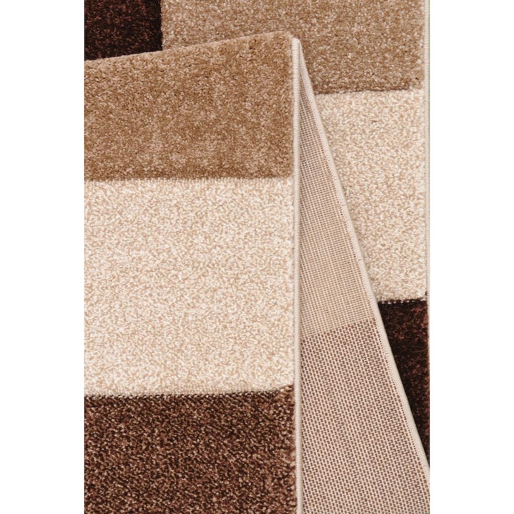 merinos Teppich »DRONNE«, rechteckig, 13 mm Höhe, handgearbeiteter Konturenschnitt, Wohnzimmer
