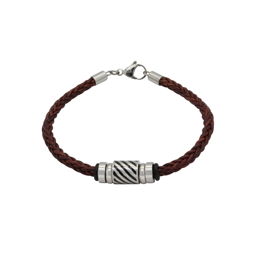 Firetti Armband »Geflochten, 4,4 mm breit, Glanz, massiv«, Made in Germany