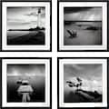 G&C Kunstdruck »Levy: Beach Bilderset«, (Set), 4 Motive à 50/50 cm, gerahmt