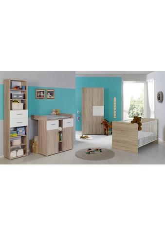 BMG Babyzimmer-Komplettset »Maxim«, (Set, 4 St.), Bett + Wickelkommode + 3-trg.... kaufen