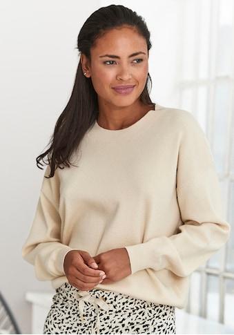 Buffalo Sweater, mit Rundhalsausschnitt und Rippbündchen kaufen