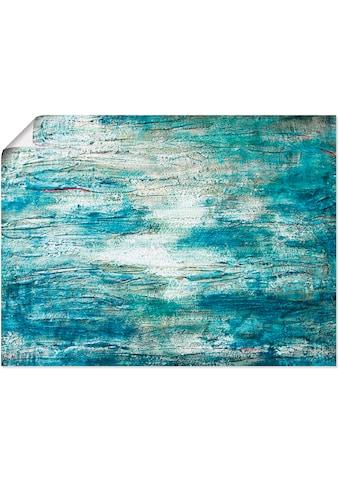 Artland Wandbild »abstrakte Malerei Aquarell«, Gegenstandslos, (1 St.), in vielen... kaufen