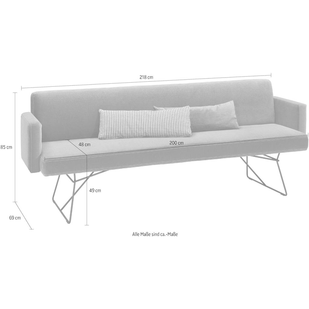 set one by Musterring Polsterbank »Nevada«, Breite 218 cm, mit Armlehne