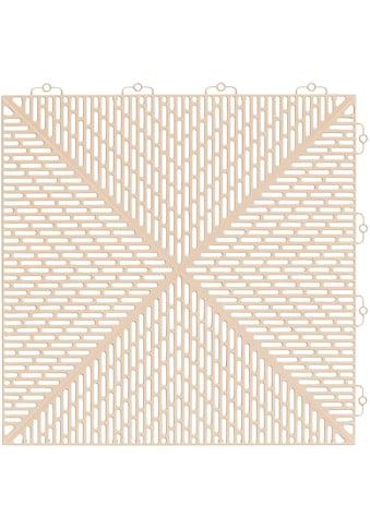 Bergo Flooring Terrassenplatten »Unique Sand«, Kunststofffliesen, einfach ineinanderstecken, 5m² kaufen